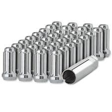 32 Chrome 1/2-20 Closed End Duplex XL Spline Lug Nuts for Aftermarket Wheels