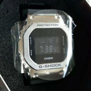(New!) Men's Casio G-Shock Digital Stainless Steel Metal Bezel Watch GM5600-1