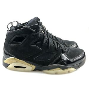 Men's Jordan Flight Club 91 Black Metallic Gold Sneaker Size 9.5