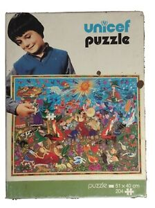 Unicef Puzzle   Vintage Rare Folk tales 1979s 51×40 204 pcs