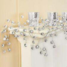 5 Foot Sparkling Crystals Silver Holiday Christmas Garland