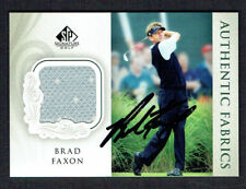 Brad Faxon #AF-BF signed autograph 2004 Upper Deck SP Authentic Fabrics Card