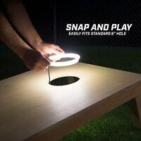 GoSports Cornhole Light-Up LED Ring Kit - Works with All Cornhole Sets WHITE