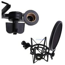 Universal Condenser Microphone Mic Stand + Shock Mount Sound Studio Recording KJ
