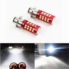 2 Pack 100W LED 6000K White HeadLight Bulbs For Honda TRX 250 300 400 450 700