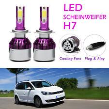 H7 LED Scheinwerfer Birnen Fernlicht Headlight Lampen Weiß 6000K für VW Tiguan