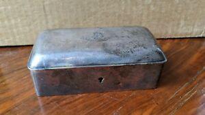 Antique Georgian Sterling Silver Box 1775 Richard Rugg Per Il Suo Contrario