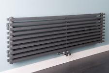 Designheizkörper Designer Heizung Horizontal 1400x455mm Grau