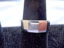 Tungsten Ring, 8 mm, polished, beveled edges