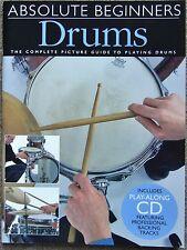 Absolute Beginners Drums Tutor Book + Play-along CD