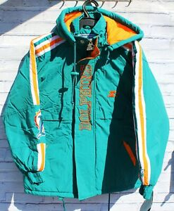 BNWT MIAMI DOLPHINS STARTER PUFFER JACKET VEST EMBROIDERED LOGO SIZE M KIDS