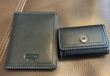 Coach Contact Lense Case Black & Travel Picture Frame  - Black Silver