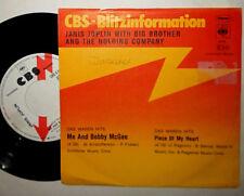 "Janis Joplin me and Bobby McGee/PIECE of My 7 single"" (CBS-FULMINE Information)"