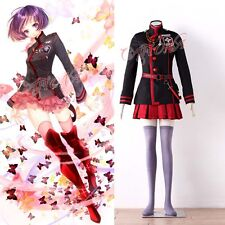 Cafiona D GRAY MAN Lenalee Lee Cosplay Costume Red Mini Pleated Skirt Any Size