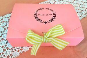 "Pink Blue Bakery Box.Cake,Cookies Macaron,Gift Box/ 9  x 4 1/2  x 2""/ pack of 10"