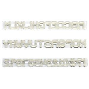 FMM Pixel Alphabet and Number Set Letter Cutter for Sugarpaste Cake Decoration