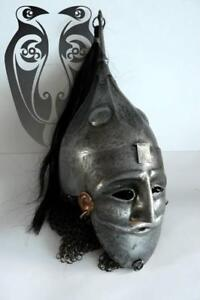 16ga Sca Larp Medieval Kuban Helmet With Kovail Mask Roman Helmet/Viking Helmet