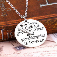 Love Between Grandmother Granddaughter Pendant Necklace Heart Family JewelryH xz