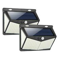 208 LED Solar Power PIR Motion Sensor Wall Light Outdoor Garden Lamp Waterproof
