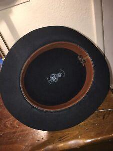 CHRISTY'S LONDON 7 1/2 SIZE BLACK HAT 100% FINE FUR FELT Vintage Made In England