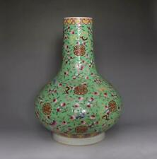 Antique Chinese Famille Rose Porcelain Peach Vase Xuantong Marks