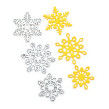 3 Pcs Snowflake Cutting Dies Christmas Decoration Stencil Die Cuts Handcraft