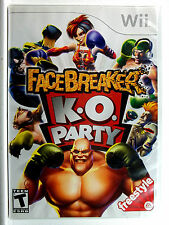 FaceBreaker K.O. Party (Wii) Game & Cover Art - Clean,Tested & Fast Shipping