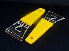 Windshield Ice Scrapers, Set of 2 ~ Yellow Comfort Grip Handle ~ #IS102
