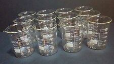 250 ml borosilicate glass graduated beakers (Set of 12)