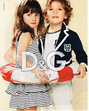 PUBLICITE ADVERTISING 094  2010   DOLCE & GABBANA JUNIOR  mode enfants