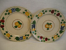 "Adams Royal Ivory Titian Ware 1346b Fruit 2 8 7/8"" Luncheon Plates"