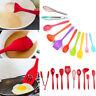 10Pc Kitchen Silicone Cooking Utensils Set Non-stick Spatula Turner Gadget Spoon