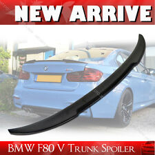 Carbon Fiber V Type Rear Trunk Lip Spoiler Wing for BMW F30 F80 M3 Model 4DR §