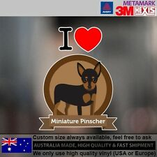 Miniature Pinscher Illustration Sticker Style Custom Gift 9.6 cm x 12.7 cm