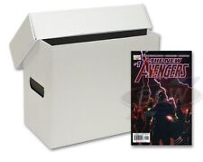 short comic storage PLASTIC BOX WHITE x 2