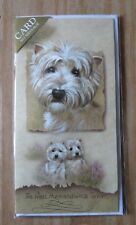 WEST HIGHLAND WHITE TERRIER POLLYANNA PICKERING GREETINGS CARD