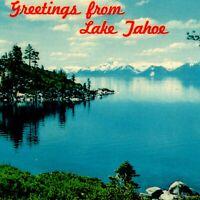 Vintage 1970s Greetings From Lake Tahoe Postcard