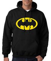 BATMAN LOGO HOODIE Dark Knight Hooded Sweatshirt Joker Robin Comic Symbol DC