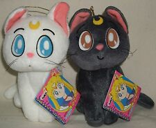 "Sailor Moon Luna & Artemis UFO Plush Doll w/tags 5.9"" 15cm Banpresto 1993 Rare"