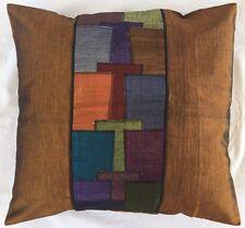 Pair of ''MODE - Gold' Cushion Covers, 100% Thai Silk
