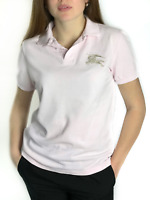 Authentic women's BURBERRY BRIT pink polo t-shirt | Size S (closely to M)