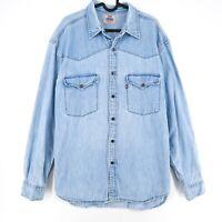 Levi's Vintage Snap Bouton Bleu Jean Chemise Taille