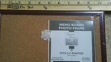 Memo Cork board Picture Photo frame for 5x7 photo image