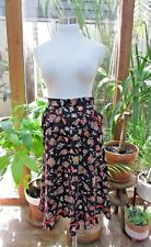 New listing Vtg 70s Gunne Sax style floral lace midi prairie peasant boho hippie skirt S M