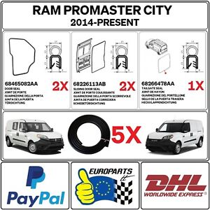 RAM ProMaster City (Cargo Van & Passenger Wagon) 5 pcs FULL DOOR SEAL KIT