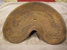 Antique Vintage Cast Iron Walter A Wood Tractor Horse Drawn Seat Original