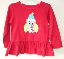 BN ~  Kelly's Kids Red Paisley Owl Brooklyn Top Girl's Sz 5-6 yr.