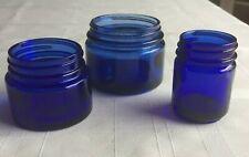 Vintage Jars NOXEMA VICKS  Cobalt Blue Glass Bottles