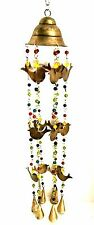 New listing Wind Chimes Birds Bells Beads India Style 33 inches Long Metal Lawn Garden Decor