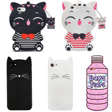 For Various Phone HOT3D Case Cover Cute Bottle Cat Cartoon Animal Soft Silicone